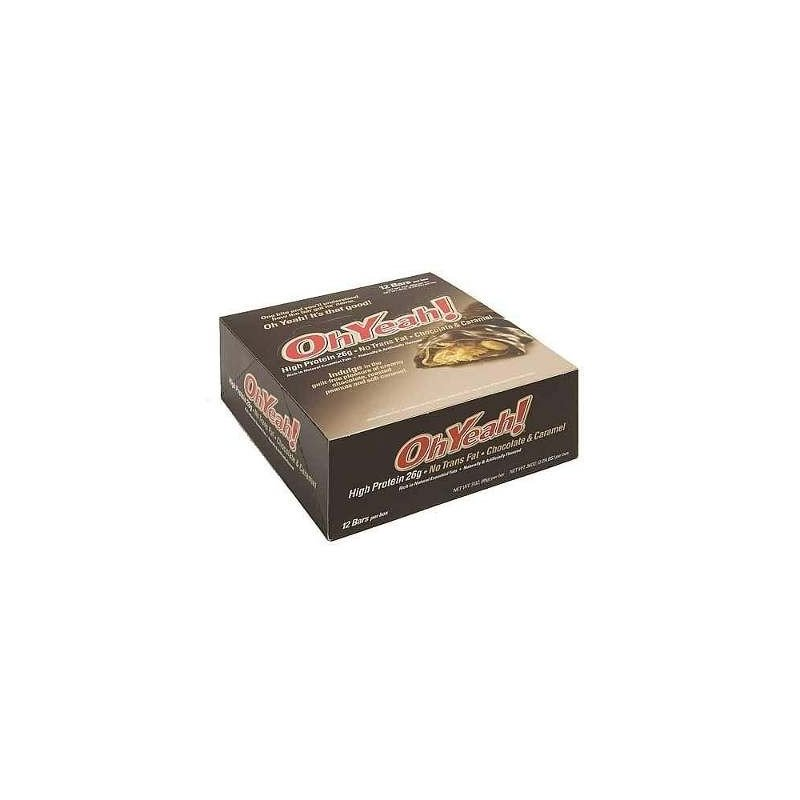 OH YEAH 85 G.- CHOCOLATE & CARAMEL (Caja 12 unid.)