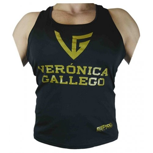 Camiseta Verónica Gallego World Champion negra