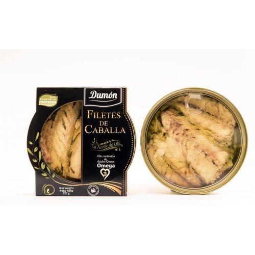 Latade filetes de CABALLA en aceite de oliva DUMON