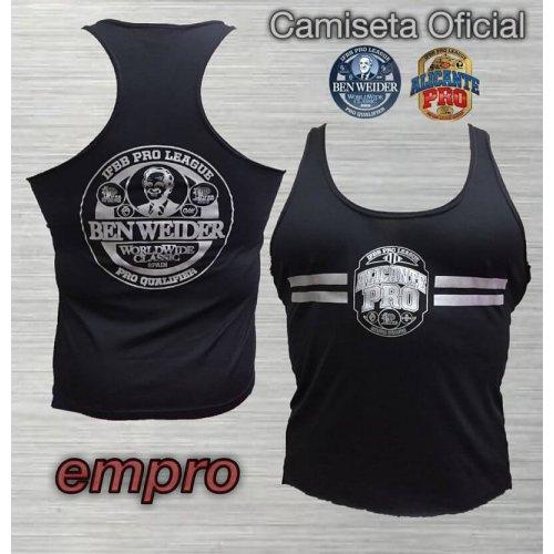 Camiseta Tirante Oficial Ben Weider/AlicantePro