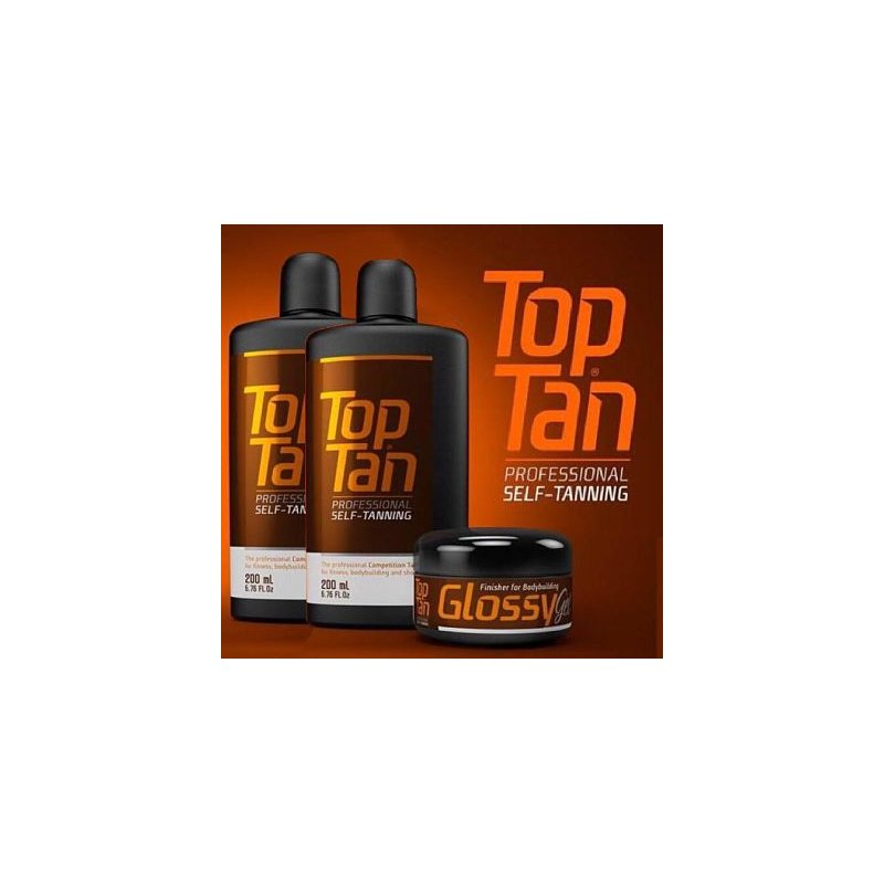 PACK 2 TOP TAN + GLOSSY GEL