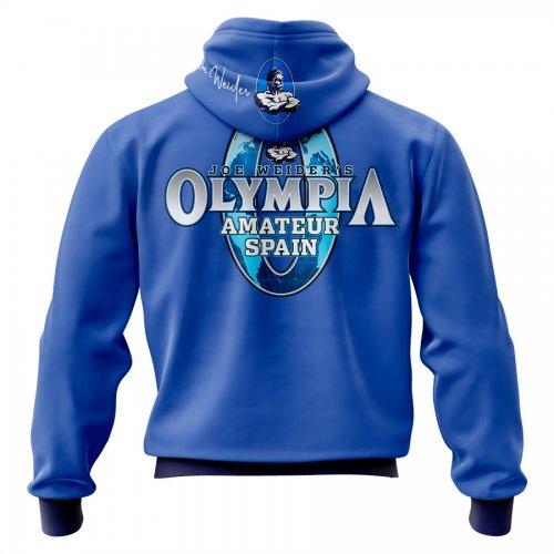 Sudadera Mr. Olympia mod. Weider celeste