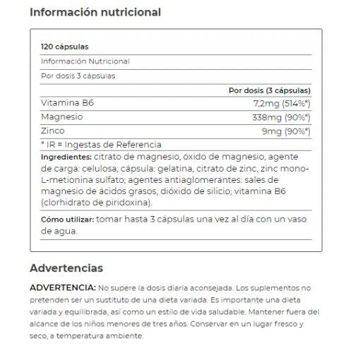 ZmaPRO Zinc, Magnesio y Vit B6 120 cápsulas