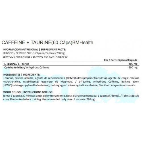 CAFEINA + TAURINA BMH