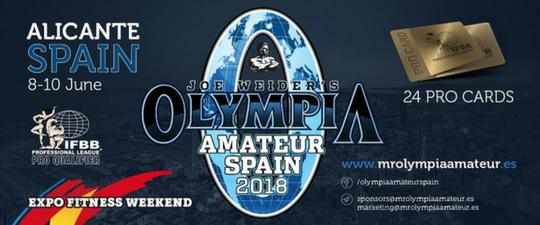 Mr Olympia Amateur en Alicante